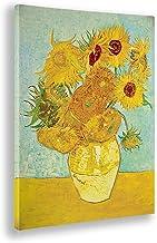 Giallobus - Schilderij - Afdrukken op Canvas - Vincent Van Gogh - Zonnebloemen - 50 X 70 Cm