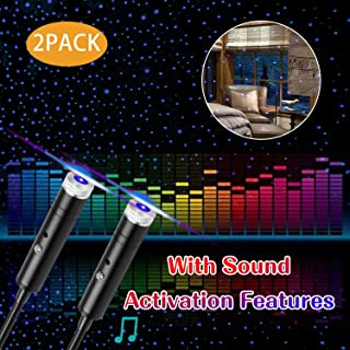 Star Projector Night Light, 2Packs, 4 Lighting Effects, Aevdor Auto Roof Romantic Star Lights, USB Night Light for Bedroom, Car, Party, Ceiling and More- Plug and Play (Blue)