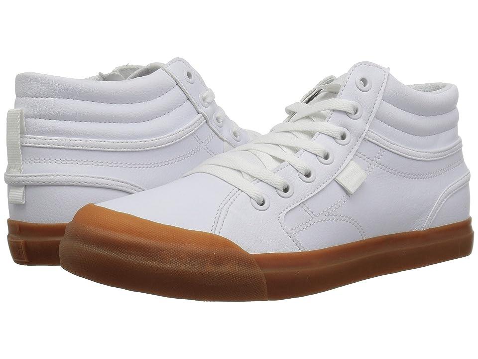 DC Kids Evan Hi SE Zip (Little Kid/Big Kid) (White/Gum) Boys Shoes