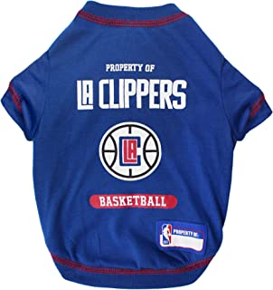 CUTE DOG T-SHIRT, Small - NBA Los Angeles Clippers Dog & Cat Shirt with Basketbal Team LOGO. A Comfortable & Fashionable y...