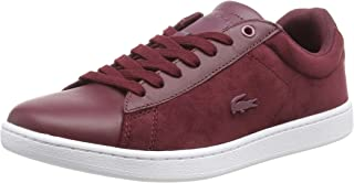 Lacoste Carnaby EVO 318 8 Womens Burgundy/White Trainers