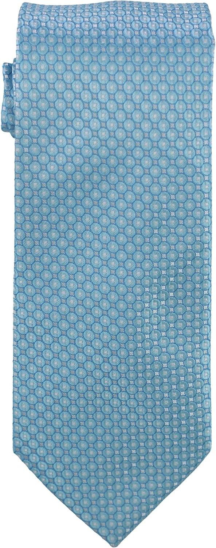 Geoffrey Beene Mens Crest Self-tied Necktie, Blue, One Size