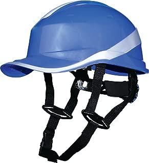 Delta Plus Venitex Baseball Diamond V Up Hard Hat Safety Helmet Bump Cap With Harness PPE (Blue)