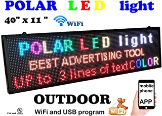 Outdoor WiFi P6 high Resolution, Full LED RGB Color Sign 40