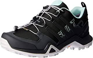 adidas Women's TERREX Swift R2 GTX Trail Running Shoes, Core Black/Core Black/Ash Green, 6.5 US
