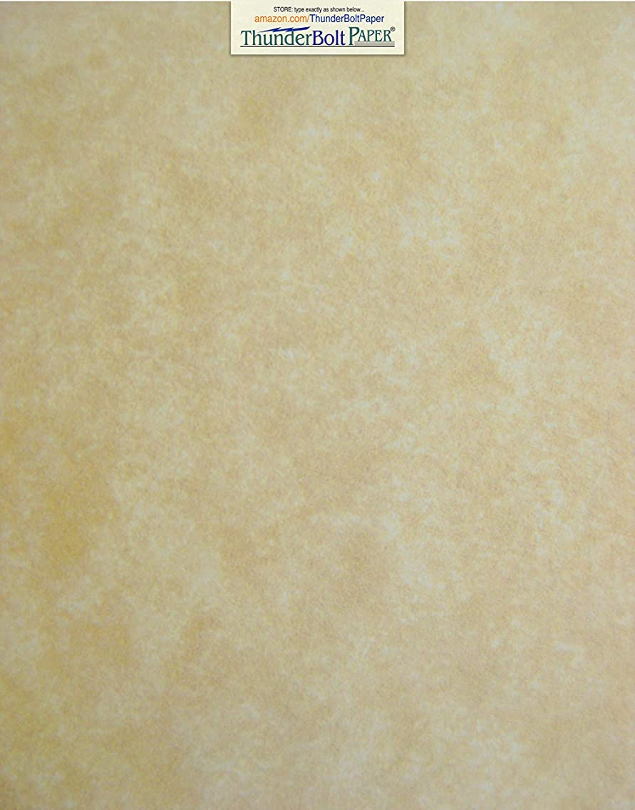 50 Old Age Parchment 65lb Cover Paper Sheets 11 X 14 Inches Cardstock Weight Colored Sheets (11