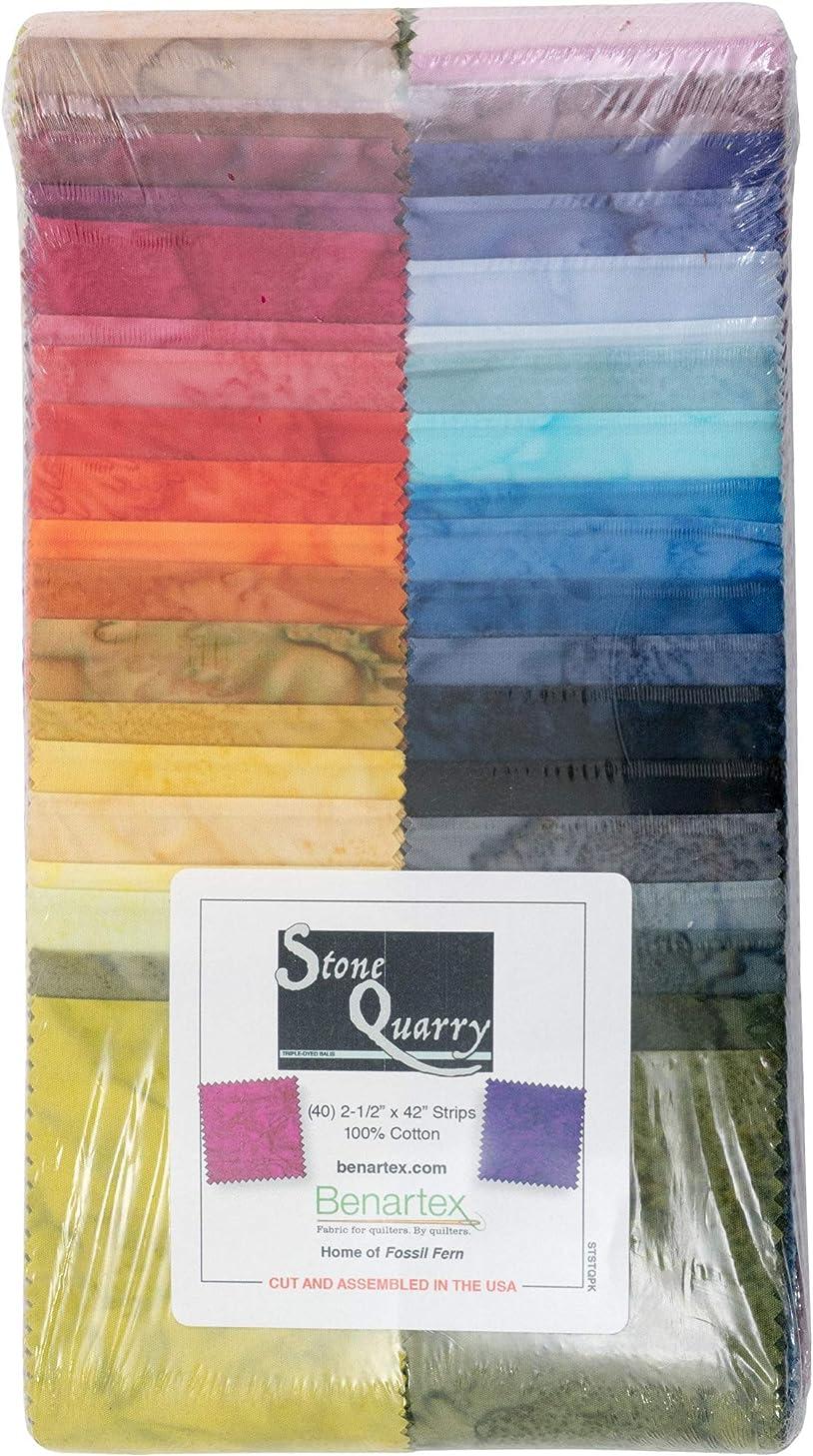 Stone Quarry Strip-Pies 40 2.5-inch Strips Jelly Roll Benartex, Assorted