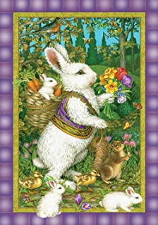 Toland Home Garden Classic Bunny 28 x 40 Inch Decorative Easter Rabbit Spring Flower House Flag