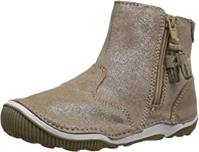 Stride Rite Girls' SRT Zoe Ankle Boot, Light Gold, 5 M US Toddler