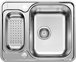 BLANCO LANTOS 6-IF - Küchenspüle für 60 cm breite Unterschränke - Mit IF-Flachrand, ohne Abtropffläche - Edelstahl-Bürstfinish - 516676