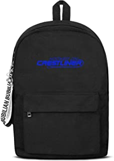 Cambpdkje Craft Canvas Backpack for Mens/Womens Crestliner-Logo-Blue- Lightweight Book Daypack