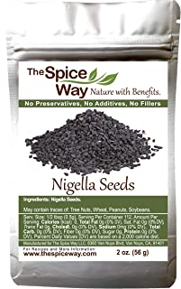 The Spice Way - Pure Nigella Seeds no preservatives, non GMO, no salt, just the black seed of the nigella (nigala) 2 oz