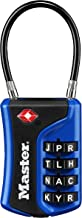 Master Lock Padlock, Set Your Own WORD Combination TSA Accepted Cable Luggage Lock, 1-3/8 in. Wide, Assorted Colors, 4697DWD