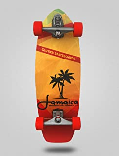Glutier Surfskate Jamaica 31 with T12 Surf Skate S...