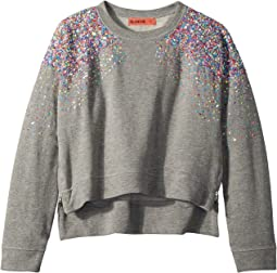Blank NYC Kids - Multicolor Beads and Sequins Sweatshirt in Confetti (Big Kids)