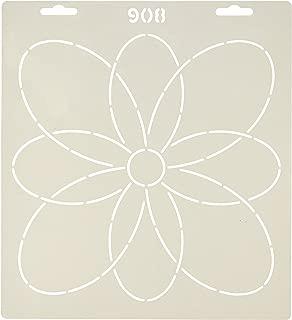 Quilting Creations Wild Flower Quilt Stencil, 9-1/8