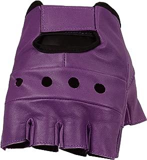 Women's Leather Fingerless Gloves, Soft Lambskin Leather