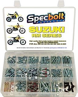 250pc Specbolt Suzuki RM Two Stroke Bolt Kit for Maintenance & Restoration of MX Dirtbike OEM Spec Fastener RM60 RM65 RM80 RM85 RM100 RM125 RM250
