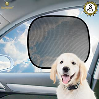 SunGrow Car Sunscreen Dog Shade, Covers and Protects Pets from Harmful Rays, Sunglare and Heat, Ideal for Side and Rear Windows, Premium Quality PVC