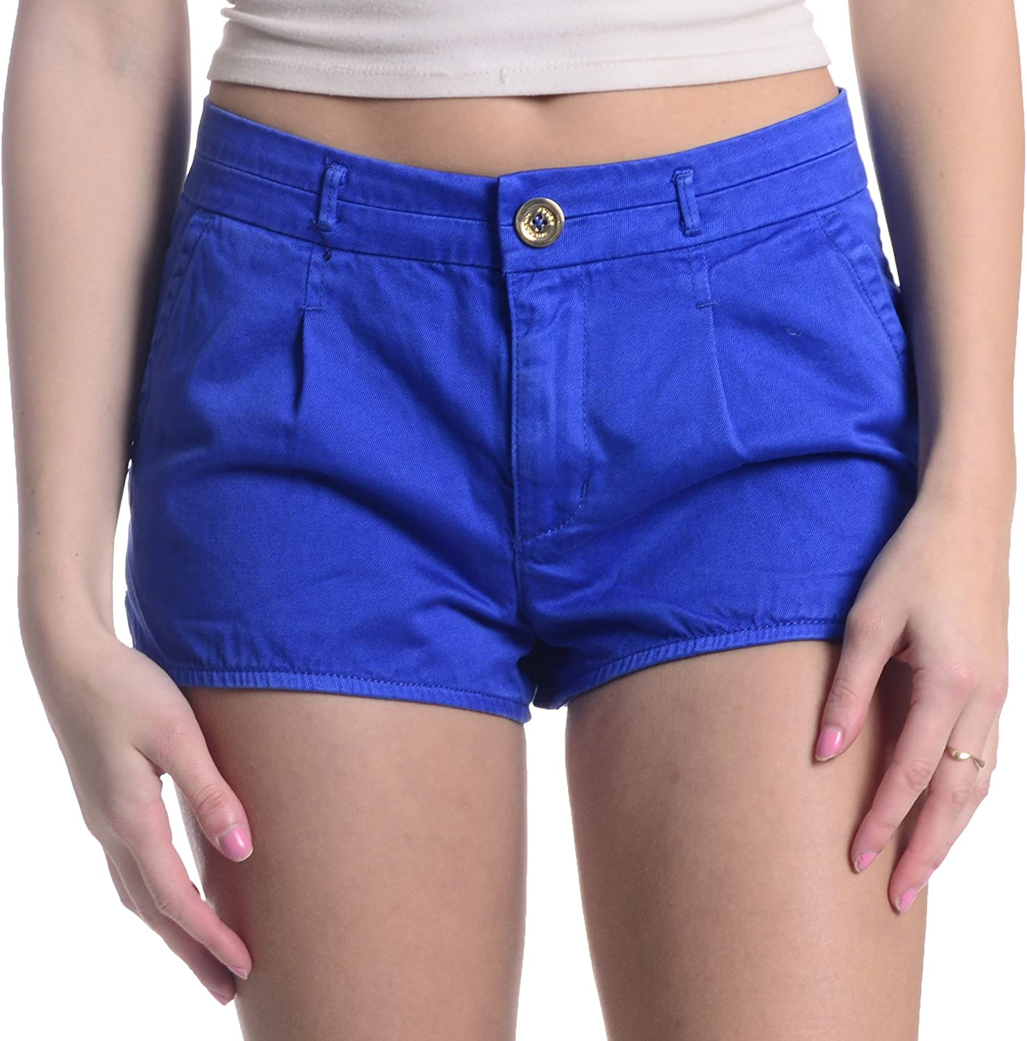 Over item handling Juicy Couture Women's Garment Dye in Shorts Twill Sale item Lazuli