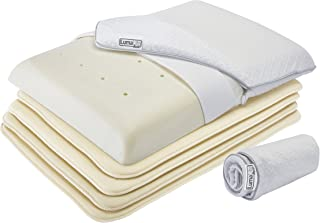 or Create an Extremely Thin and Flat Pillow with Included Removable Cover LumaLife Luxe Extreme Thin Pillow Tencel Use 4 Thinserts to Add Height to Your Existing Pillow