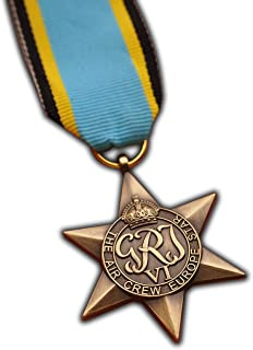 The Air Crew Europe Star Military Medal WW2 Commonwealth British Military Award For   Army   Navy   RAF   REPLICA George VI
