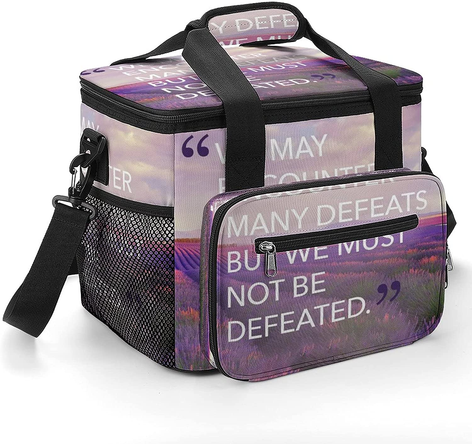 We Must Not Be Defeated Cooler Selling and selling Bag Insulated Shoulder Strap with 35% OFF