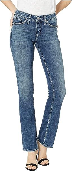 Suki Mid-Rise Curvy Fit Slim Bootcut Jeans in Indigo