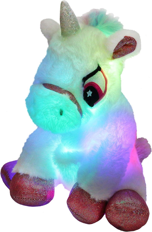 Houwsbaby Kansas City Mall Light up Unicorn LED Plush Stuffed Animal Night Max 87% OFF