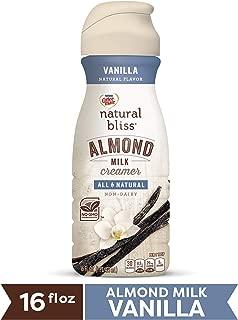 COFFEE MATE NATURAL BLISS Almond Milk Vanilla All-Natural Liquid Coffee Creamer, 16 Fl. Oz. Bottle | Non-Dairy Creamer