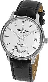 JACQUES LEMANS - Reloj Analógico para Hombre de Cuarzo con Correa en Cuero N-222A