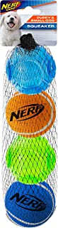 Nerf Dog TPR 2 Inch Sonic/Tennis Balls 4pk for Small Dogs and Puppies, Suitable for The Tennis Ball Blaster for Small Dogs and Puppies