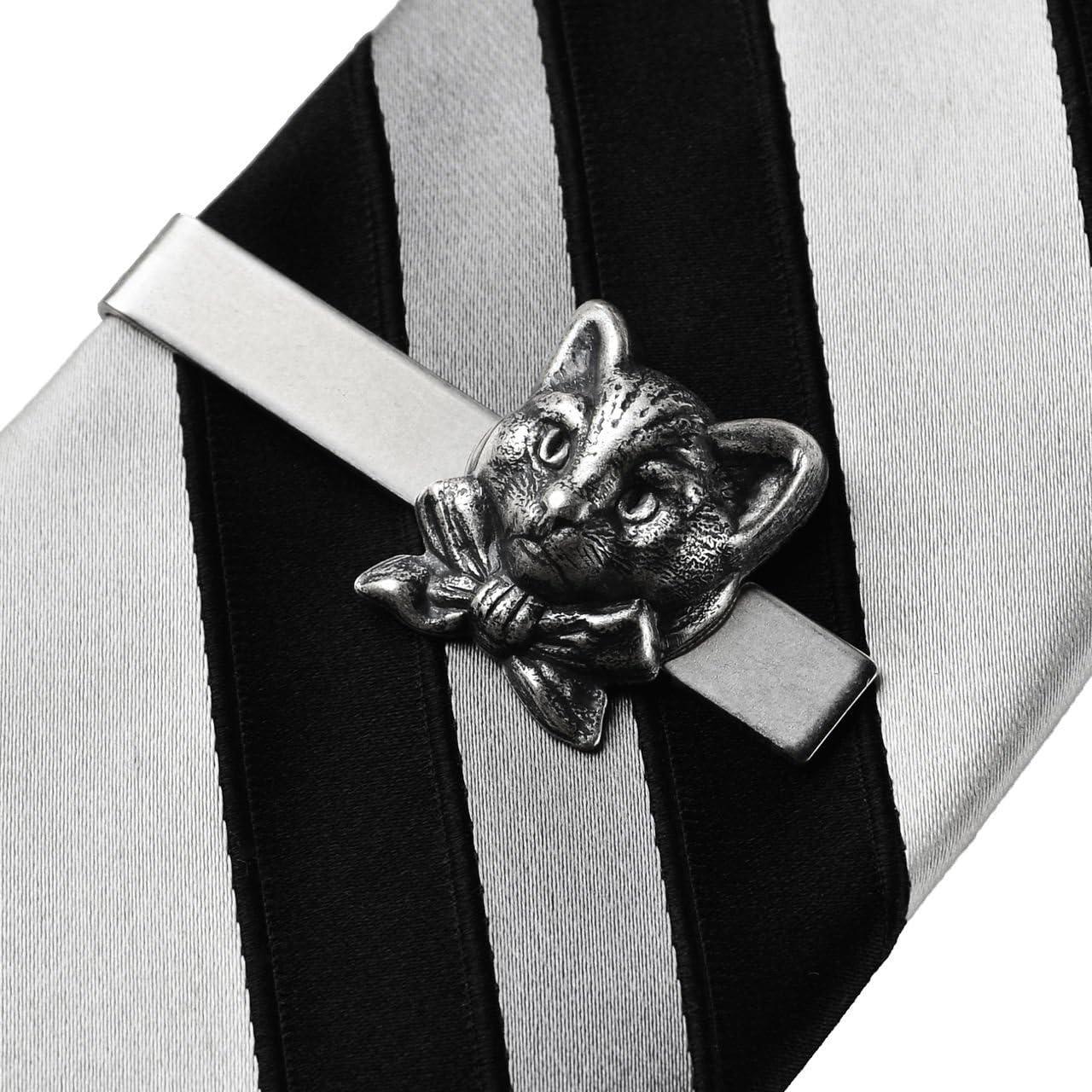 Quality Handcrafts Guaranteed Cat Tie Clip