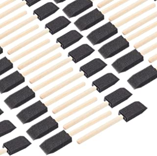 Foam Paint Brush - 120-Pack 1-Inch Paint Brush with Wood Handles Value Pack - Great for Acrylics, Stains, Varnishes, Crafts, Art