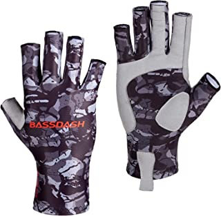 Bassdash ALTIMATE Sun Protection Fingerless Hunting Fishing Gloves UPF 50+ Men's Women's UV Gloves for Kayaking Paddling Hiking Cycling Driving Shooting Training