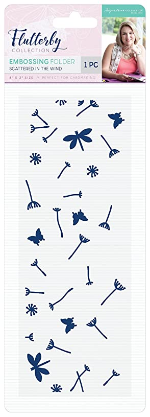 Sara's Signature S-F-EF-SITW Flutterby Scattered in The Wind Embossing Folder, White