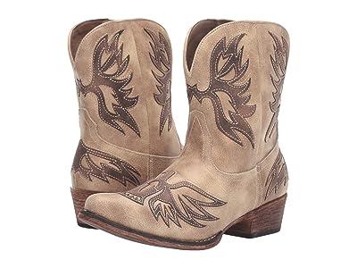Roper Amelia (Vintage Beige Faux Leather Vamp) Cowboy Boots