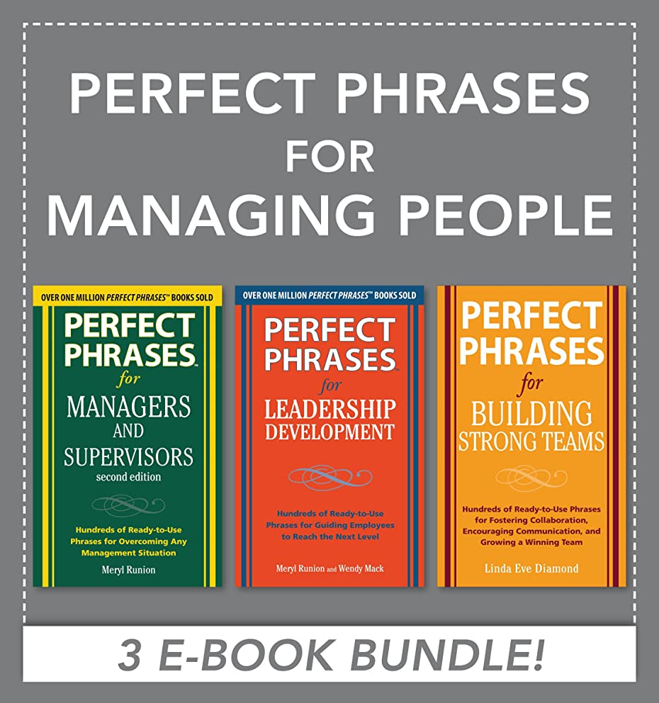 Perfect Phrases for Managing People (EBOOK BUNDLE) (English Edition)