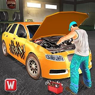 Taxi Car Mechanic Workshop 3D
