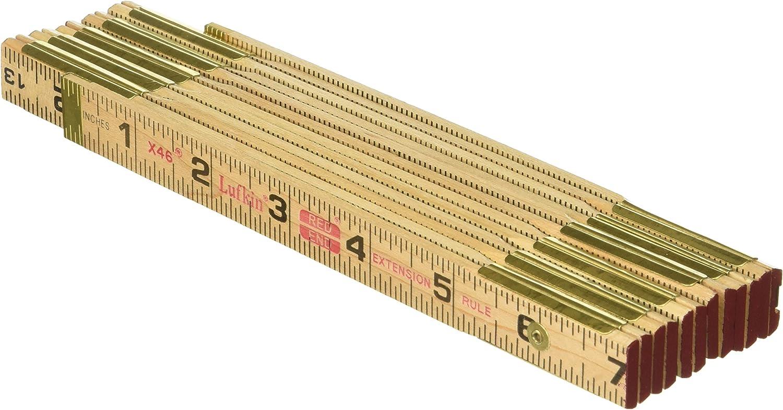 Lufkin X46SLN 6′ Brass Ext Wood Rule