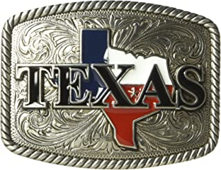 Nocona Men's Rounded Square Painted Texas Buckle