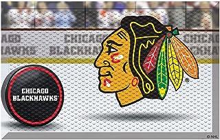 """FANMATS 19134 Team Color 19"""" x 30"""" Chicago Blackhawks Sc Mat (NHL Puck)"""