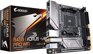 GIGABYTE B450 I AORUS PRO WiFi (AMD Ryzen AM4 /M.2 Thermal Guard with Onboard WiFi/HDMI/DP/USB 3.1 Gen 2/Mini ITX/Motherboard) (Renewed)