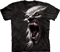 The Mountain Adult 100% Cotton Werewolf Realistic T-Shirt (Black)