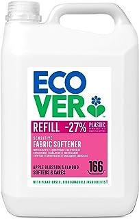 Ecover Sköljmedel – äppelblomma och mandel (5 l/166 tvättladdningar), sköljmedel med växtbaserade ingredienser, ekologiskt...