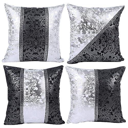 White Leather Sofa Pillows: Amazon.com