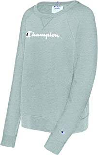 Champion Womens Heritage French Terry Crew Long Sleeve Sweatshirt
