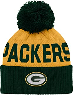 NFL Green Bay Packers Infant Outerstuff Jacquard Cuffed Knit Hat With Pom, Team Color, Infant One Size
