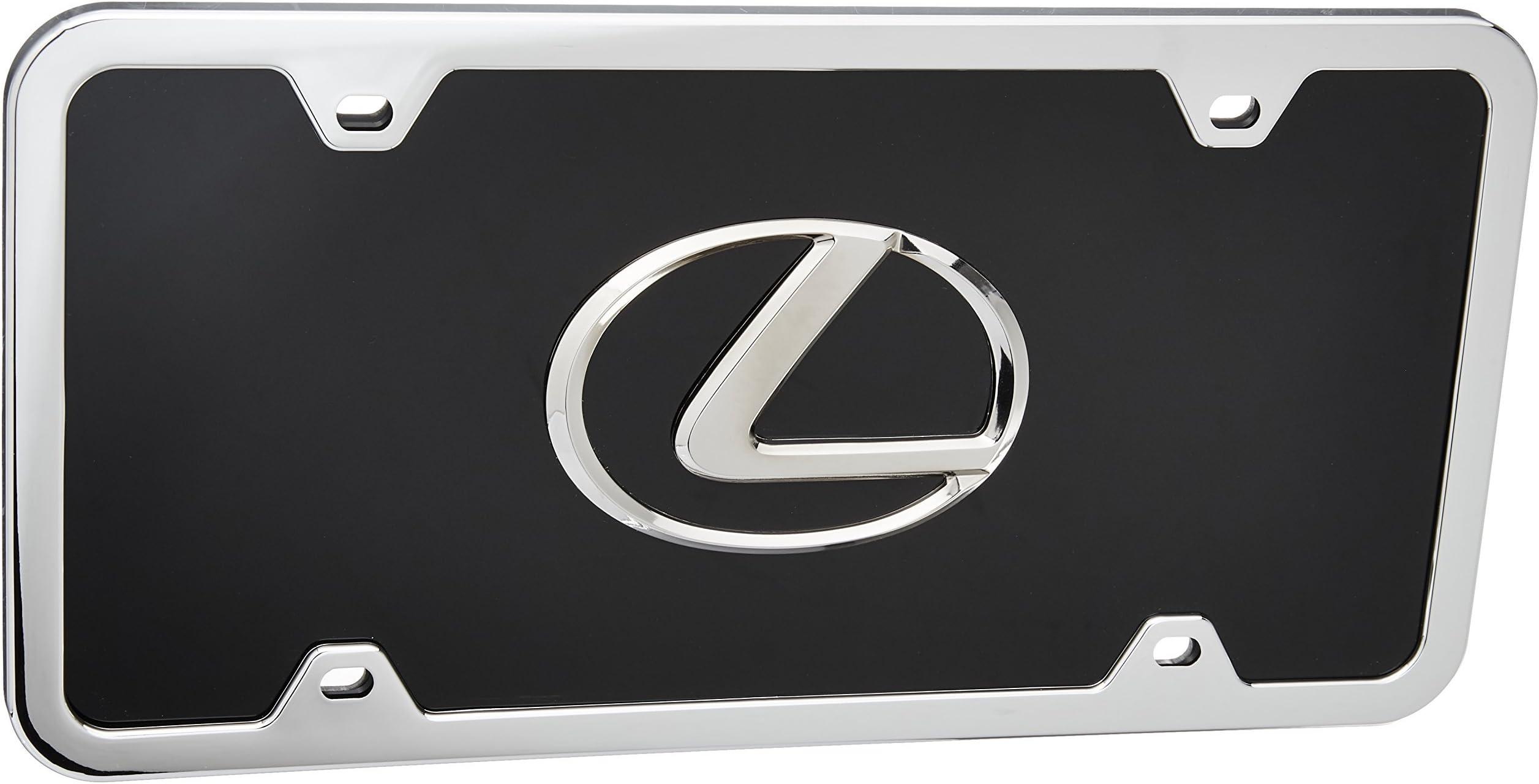 Screw Cap 1x Lexus3D Emblem STAINLESS STEEL License Plate Frame RUST FREE