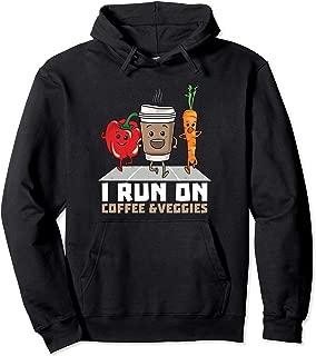I Run On Coffee and Veggies Pullover Hoodie Vegan Runner